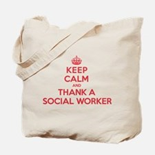 K C Thank Social Worker Tote Bag