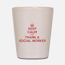 K C Thank Social Worker Shot Glass