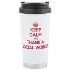 K C Thank Social Worker Travel Mug