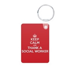 K C Thank Social Worker Keychains