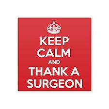 "K C Thank Surgeon Square Sticker 3"" x 3"""