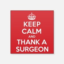 "K C Thank Surgeon Square Sticker 3"" x 3"""