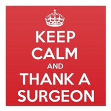 "K C Thank Surgeon Square Car Magnet 3"" x 3"""