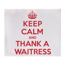 K C Thank Waitress Throw Blanket