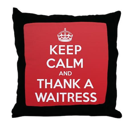 K C Thank Waitress Throw Pillow
