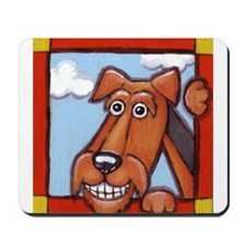 The Happy Airedale  Mousepad