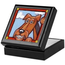 The Airedale Shop Happy Airedale Keepsake Box