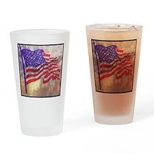 American Flag Drinking Glass