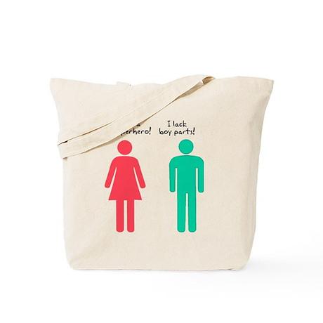 Superhero Boy Parts Tote Bag