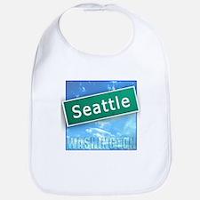 Seattle WA Street Sign Bib