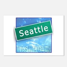 Seattle WA Street Sign Postcards (Package of 8)