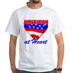 American At Heart White T-Shirt