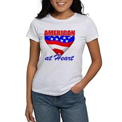 American At Heart Women's T-Shirt