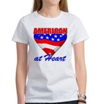 American At Heart Women's T-Shirt