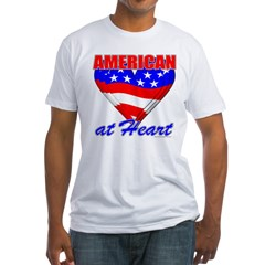 American At Heart Fitted T-Shirt