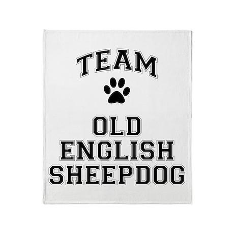 Team Old English Sheepdog Throw Blanket