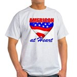 American At Heart Ash Grey T-Shirt