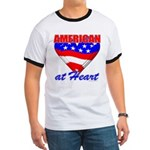 American At Heart Ringer T