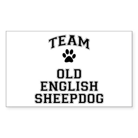 Team Old English Sheepdog Sticker (Rectangle)