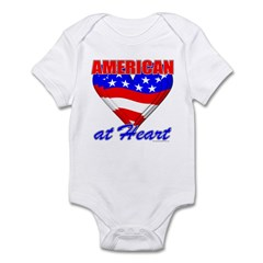 American At Heart Infant Creeper