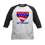 American At Heart Kids Baseball Jersey