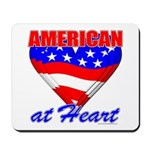 American At Heart Mousepad