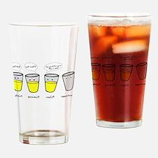 Optimist Pessimist Realist Opportunist Drinking Gl