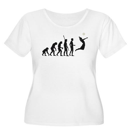 evolution volleyball Women's Plus Size Scoop Neck