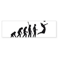 evolution volleyball Bumper Sticker