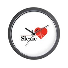 I love Slexie Wall Clock