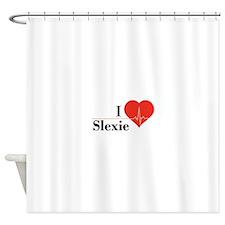 I love Slexie Shower Curtain