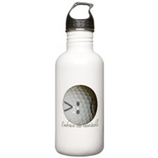 Embrace the inevitable Water Bottle