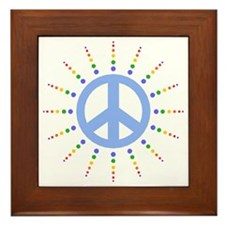 Peace Burst Framed Tile