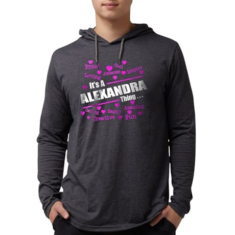 ALEXANDRA tshirt, it's a ALEXAND Mens Hooded Shirt