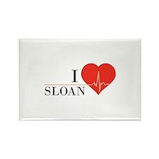 I love Sloan Rectangle Magnet