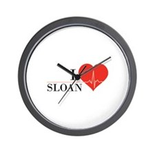I love Sloan Wall Clock