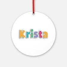 Krista Spring11 Round Ornament