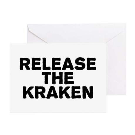 Release Kraken Greeting Card