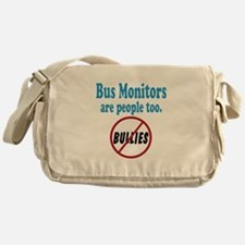 No Bullying Bus Monitors Messenger Bag