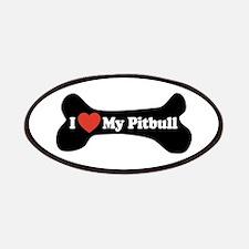 I Love My Pitbull - Dog Bone Patches