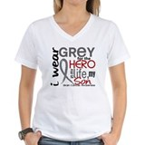 I wear gray for my son Womens V-Neck T-shirts