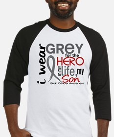 Hero in Life 2 Brain Cancer Baseball Jersey