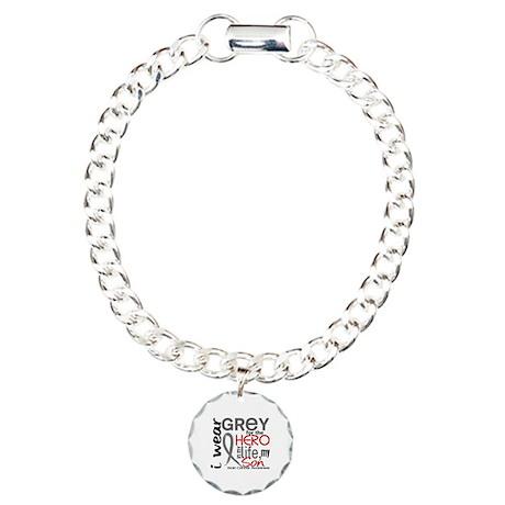 Hero in Life 2 Brain Cancer Charm Bracelet, One Ch