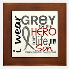 Hero in Life 2 Brain Cancer Framed Tile
