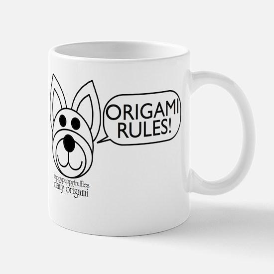 Origami Rules! Mug