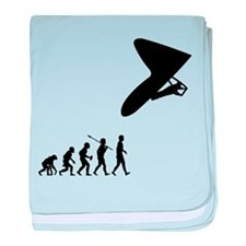 Hang Gliding baby blanket
