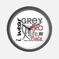 Hero in Life 2 Brain Cancer Wall Clock
