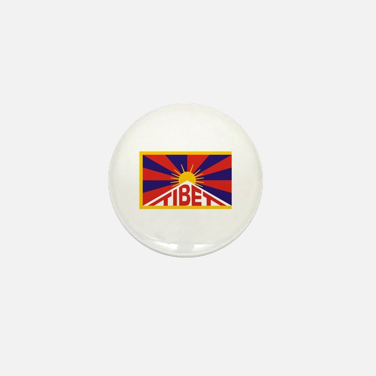 Tibet Flag Mini Button (10 pack)