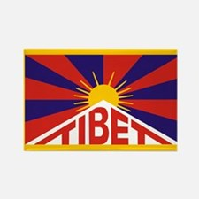 Tibet Flag Rectangle Magnet