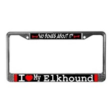 Norwegian Elkhound Gifts License Plate Frame